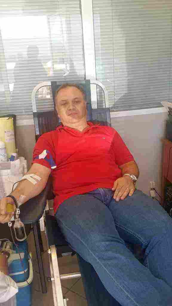 Ο Δήμαρχος Ωρωπού κ. Θωμάς Ρούσσης παροτρύνει με το παράδειγμα του όσους επιθυμούν να συνεισφέρουν στην ύψιστη προσπάθεια προσφοράς αίματος