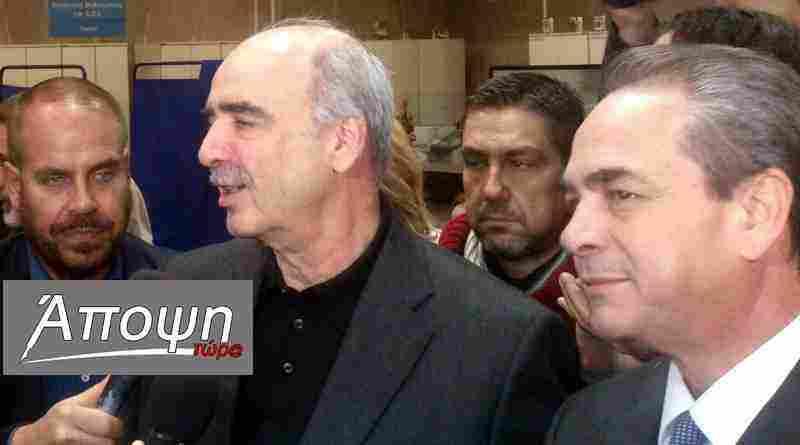 Ο κ. ΜεϊμαράΚης με τον κ. Μίχαλο στο εκλογικό κέντρο του ΕΒΕΑ