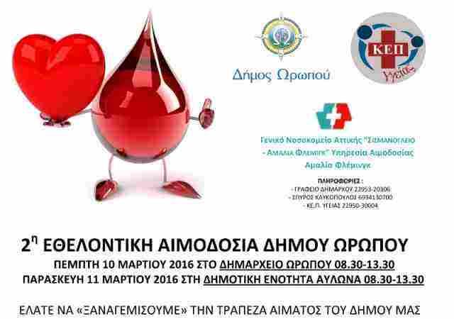 2η Εθελοντική Αιμοδοσία