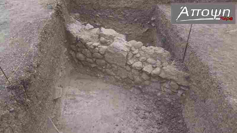 Τοίχος από δωμάτιο πρωτοβυζαντινής περιόδου 25-11-2016