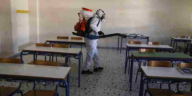 Αποτέλεσμα εικόνας για Απολύμανση των σχολικών κτιρίων